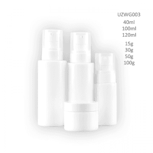 Trending Products Cosmetic Bottle Supplier Philippines - Opal White Glass Bottle And Cream Jar – Uzone