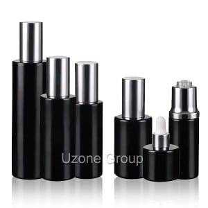 Luxcy dark violet glass bottles with aluminum lid