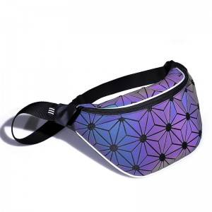 custom ultrathin hologram tpu rainbow bag Iridescent waist bag