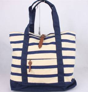 Stylish ladies bags promotional cotton canvas beautiful handbags