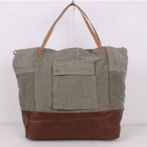 Customized Cotton Canvas Duffle Bag Tone Garment Travel Bag