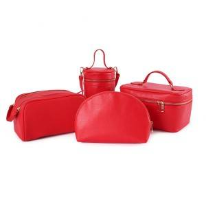 fashion pu cosmetic bags set