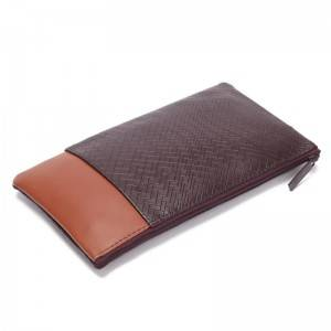 Woven Pattern Pu Leather Muti-functional Bag Make Up Bag Custom Color