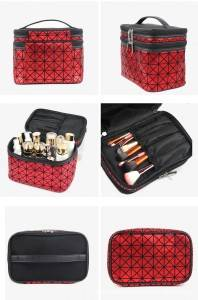 Fashion PU professional brushes makeup bag vanity case cosmetic vanity