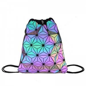 women custom ultrathin hologram tpu rainbow bag Iridescent drawstring bag