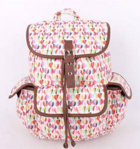 outdoor canvas backpack fashionable backpack factory wholesale for student high school laptop canvas rucksack