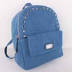 Fashion Unique Casual Tide Small Carry Bag Teenager Girls Beaded Bag Women Bag Female Rivet Studded Backpack