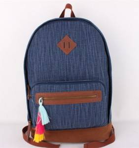 Stylish Trendy Fashion School Backpack Carry on Canvas Daily Casual Backpack Canvas Travel Bag