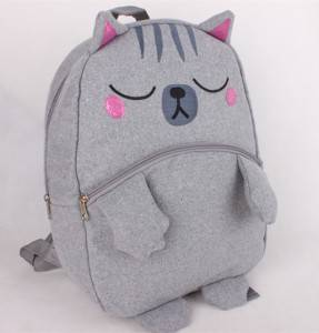 Popular Cute Outdoor cartoon cat design Pre-school Bag Little mini Kids Backpack