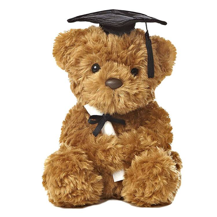 20cm 30cm 40cm customized plush toy cute bear toy stuffed graduation bear