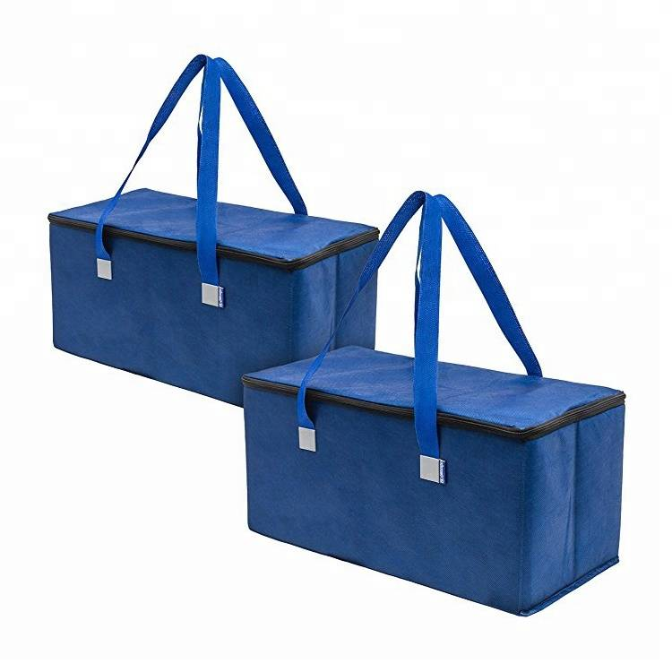 Multi-function shopping tote bag with foldable insulated cooler bag