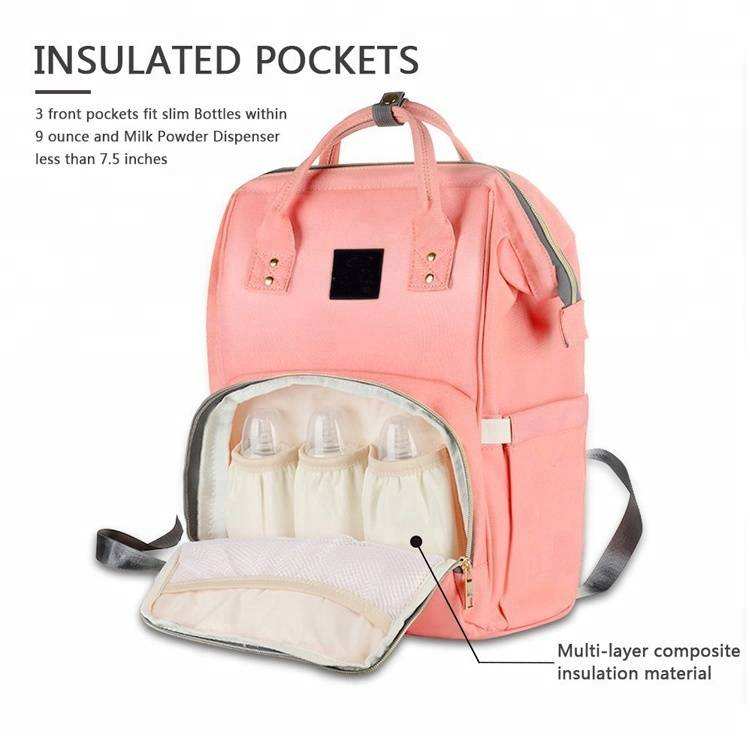 Wholesale Multi-Function Fashion Oxford Travel Backpack Adult Baby Diaper Bag
