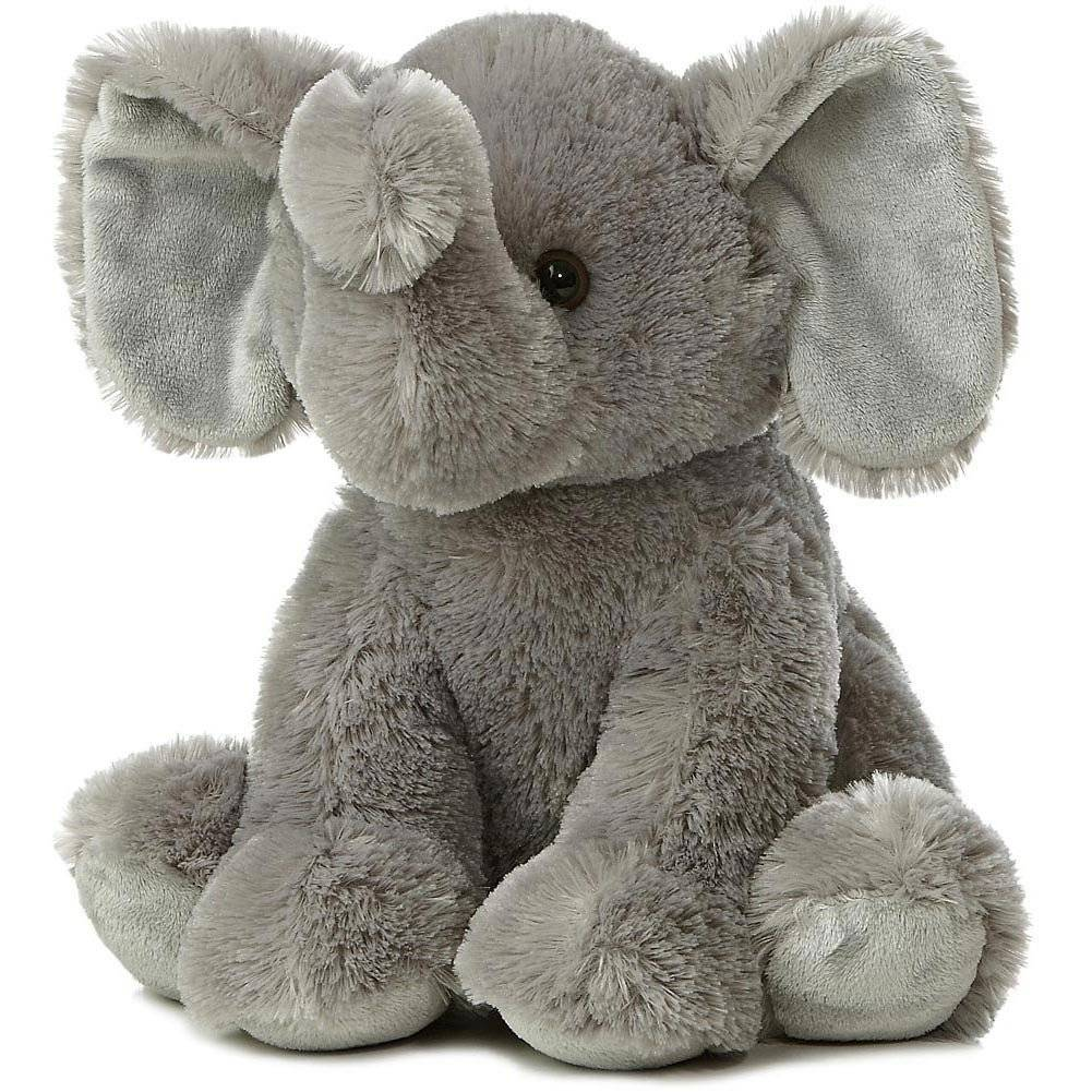 produce grey color cute lovely adorable fluffy stuffed animal toy elephant plush toys