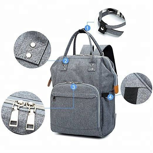 Fashion large capacity multifunctional durable waterproof travel baby diaper bag backpack