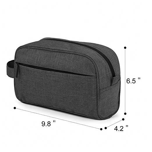 Free sample Travel Bathroom Bag Shaving Shower Cosmetic Organizer Black Toiletry Kit Unisex Toiletry Bag
