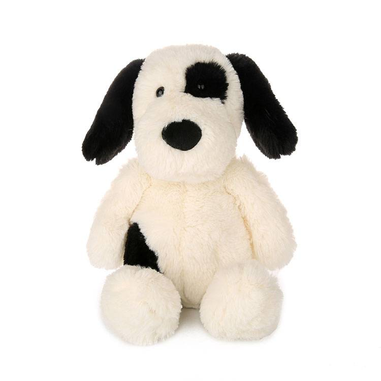 Custom stuffed lovely white brown plush dog toys