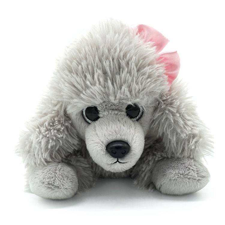 Alibaba OEM custom stuffed cute gray teddy dog plush animal shaped toys