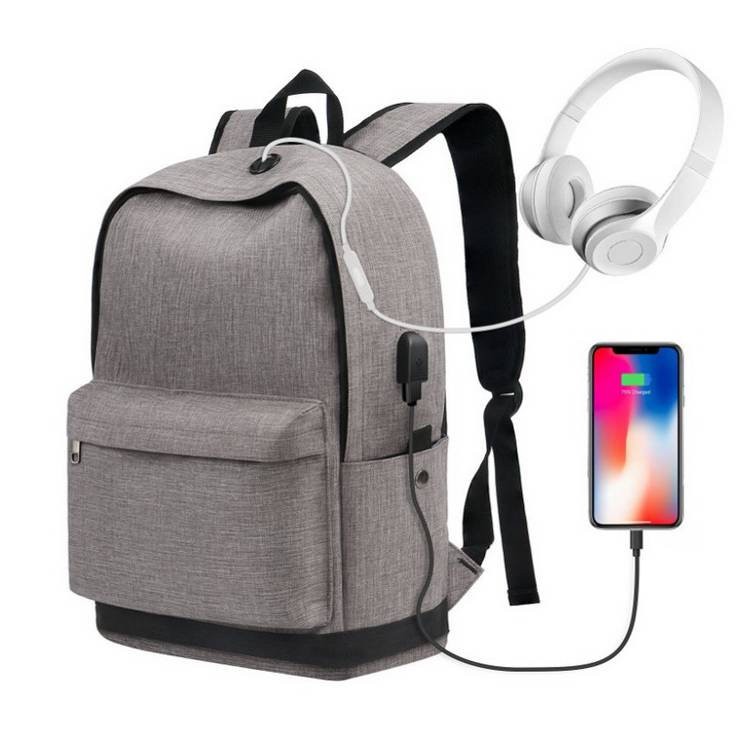 Custom Men's Waterproof 15.6L Smart Anti-theft USB Charging Shockproof Canvas Laptop Bagpack  Back Pack with Logo