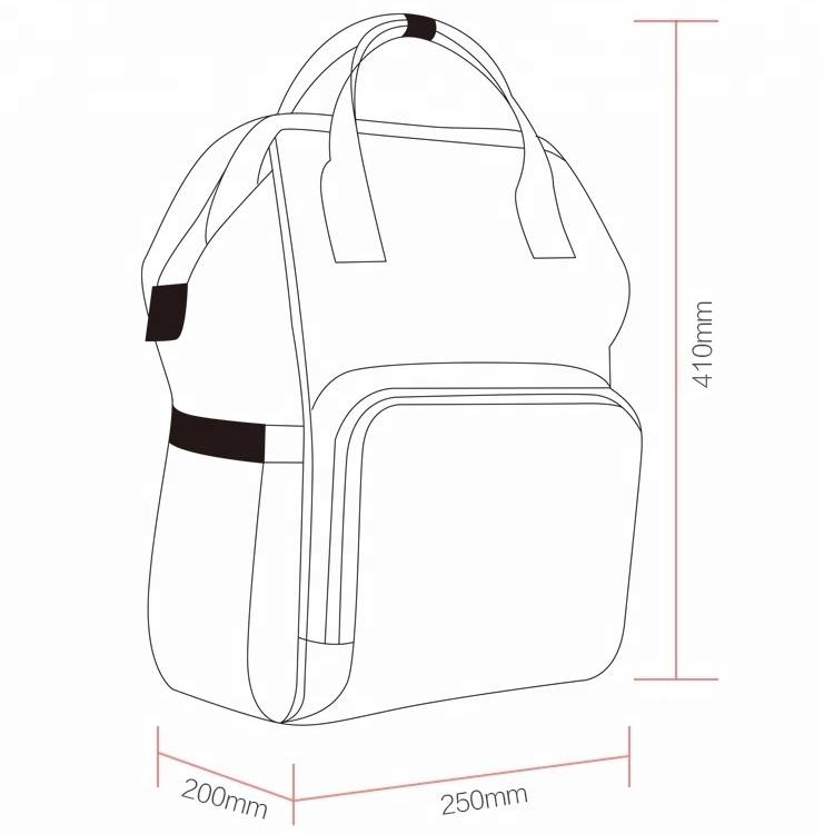 Waterproof Multi-Functional Outdoor Mummy Baby Diaper Backpack with Changing Pad bottle bag