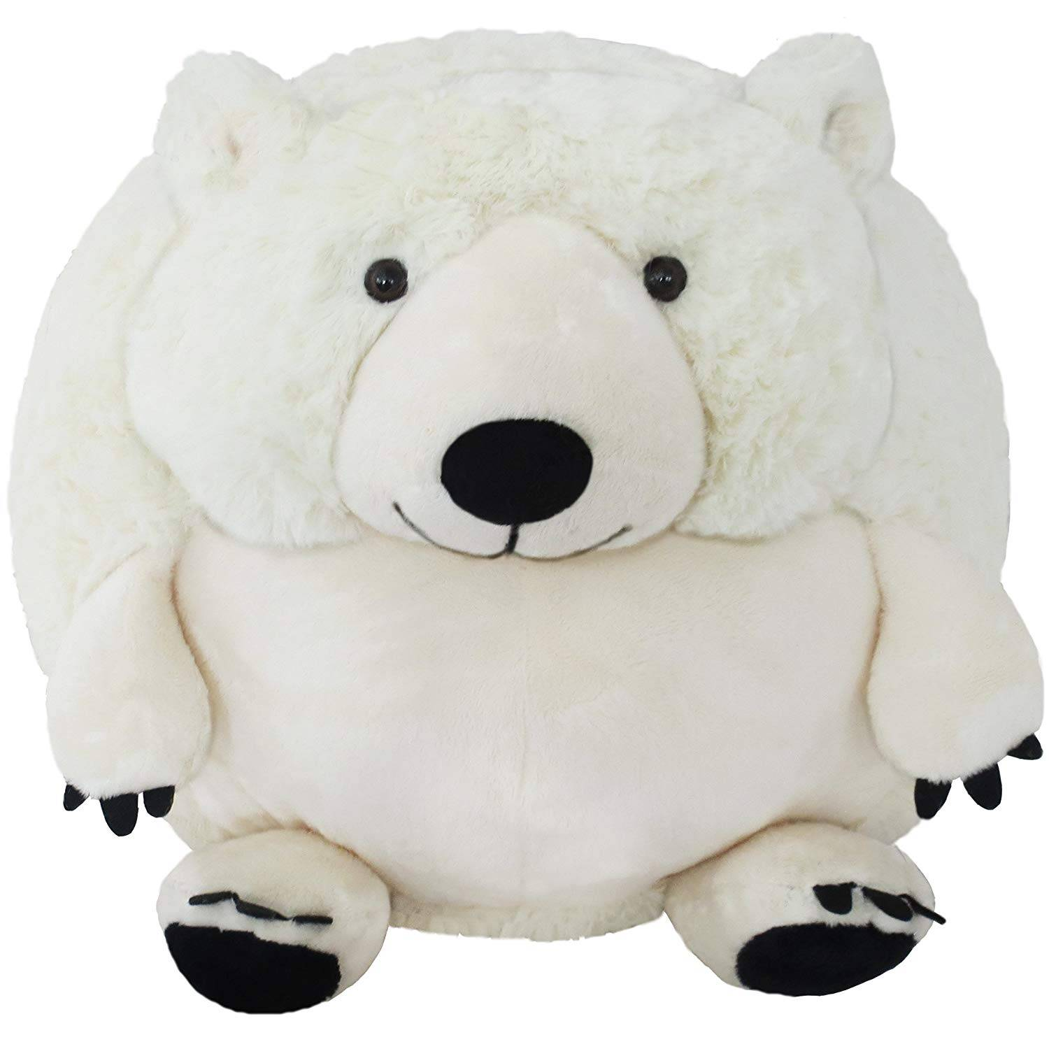 supply OEM velboa plush white bear toy round plush bear promotional gift