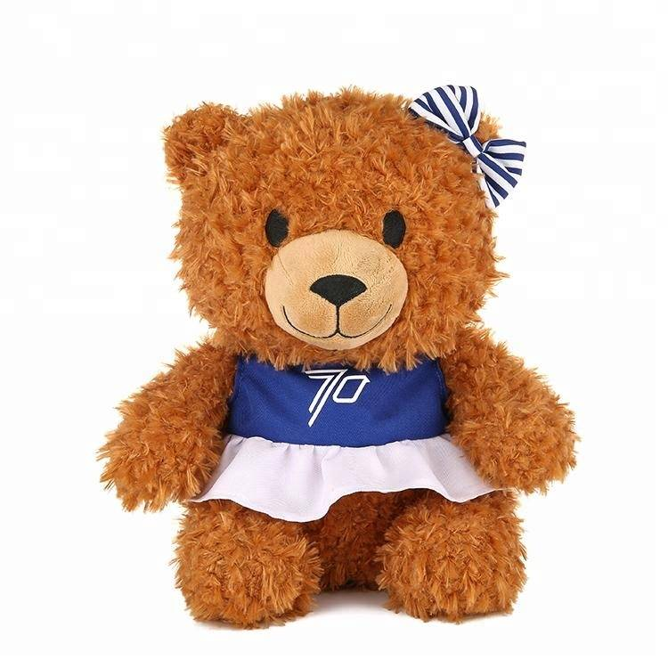 Customized soft toy long pile teddy bear plush toy