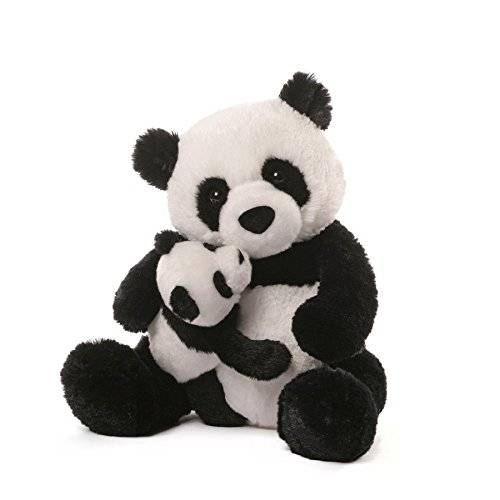 produce mother and kid design cute animal soft stuffed panda plush toy
