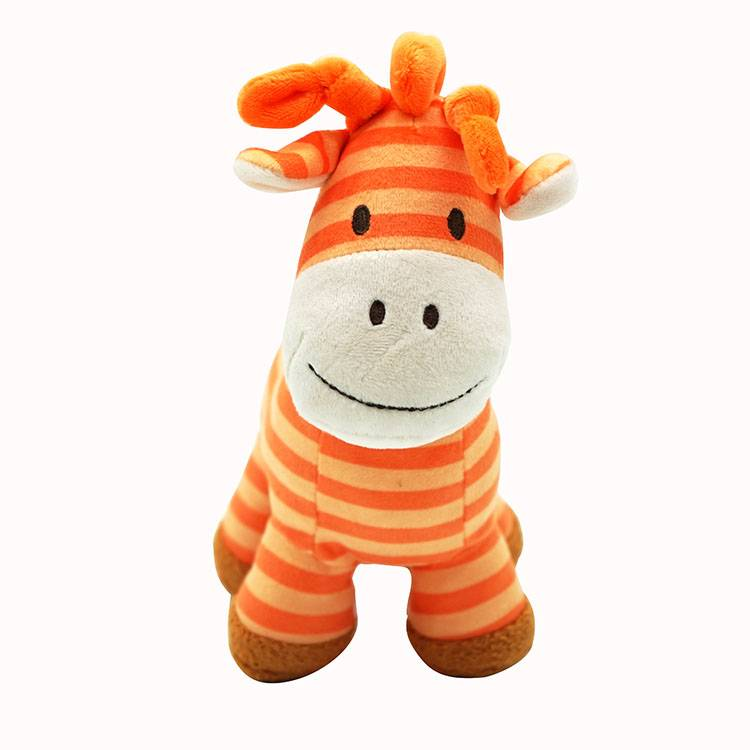 Custom cute stuffed animal zebra plush toy