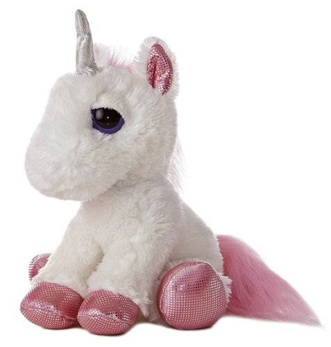 hot selling stuffed unicorn animal toy pink white unicorn plush toy