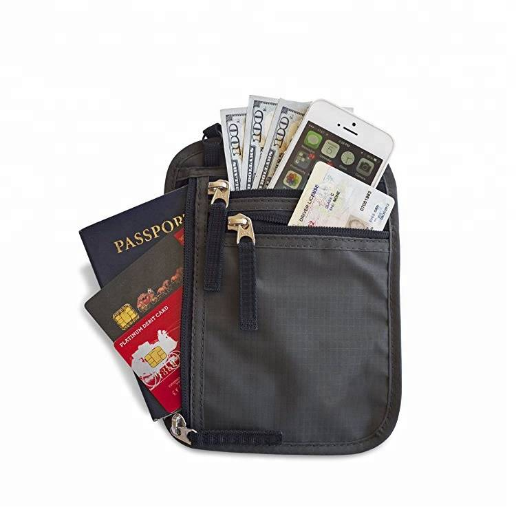 Top selling durable male leather card holder with travel bag passport