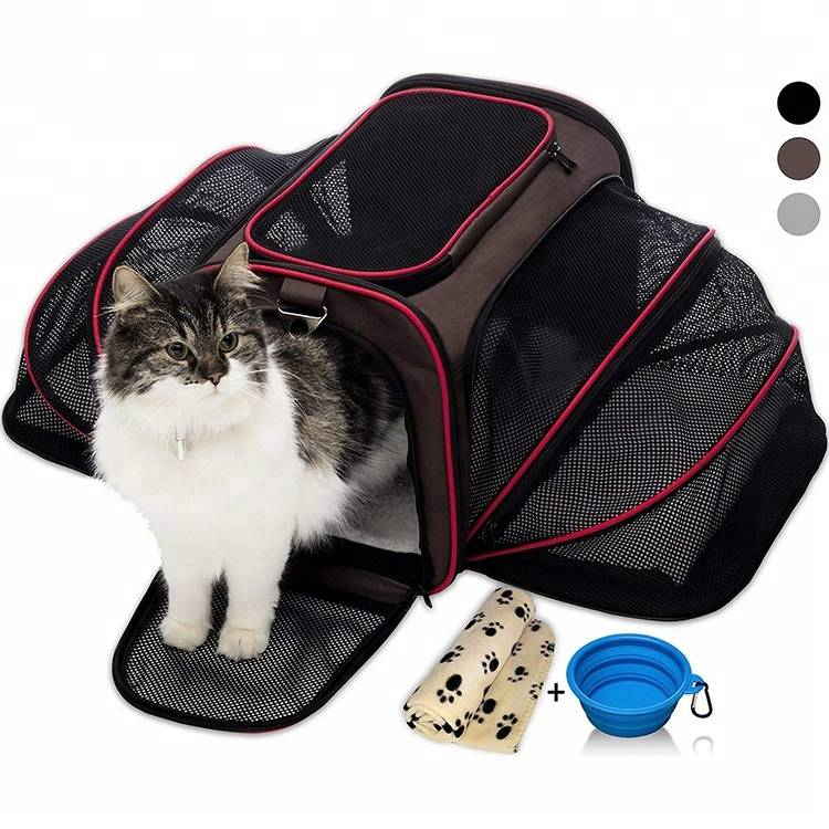 Airline Approved Soft Pet Carrier by Two Side Expansion For Small Dogs And Cats
