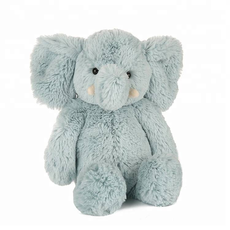 supply super soft stuffed elephant toy blue elephant soft toy for infant