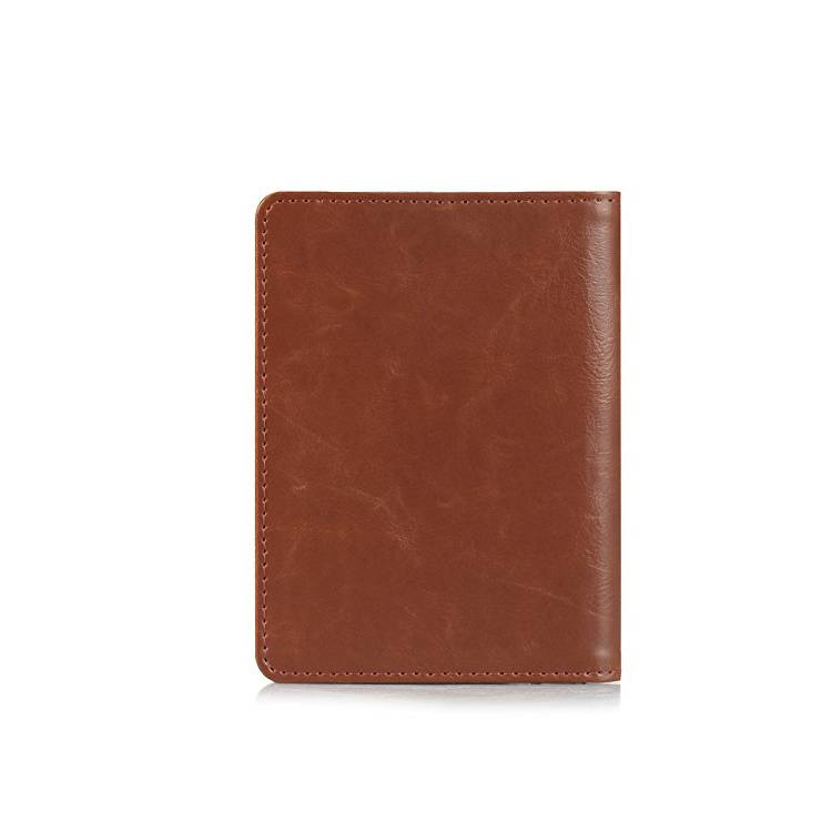 Good quality custom logo genuine leather men card holder for passport