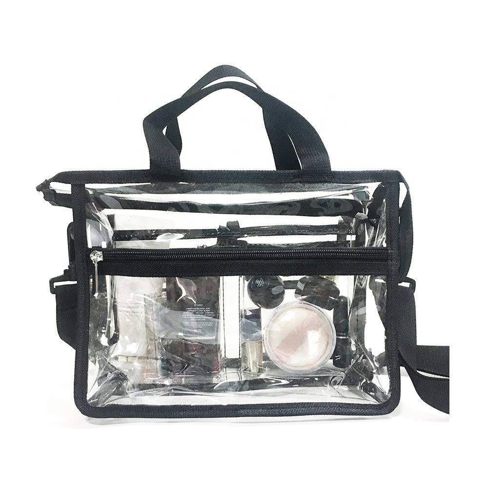 Water-Proof Shoulder Tote Clear Make-up Bags Travel Toiletry Bag Organizers for Traveling, Business Trip and School