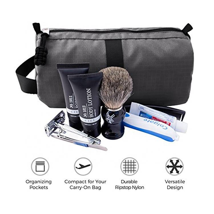 Custom logo Waterproof Travel Dopp Bag Travel Toiletry Cosmetic Organizer Bag For Men / Women