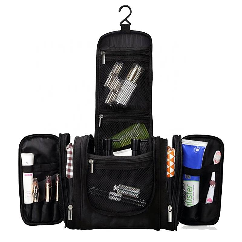 Online Shopping Large Hanging Heavy Duty Waterproof Durable Makeup Organizer Bag Shaving Kit Travel Toiletry Bag
