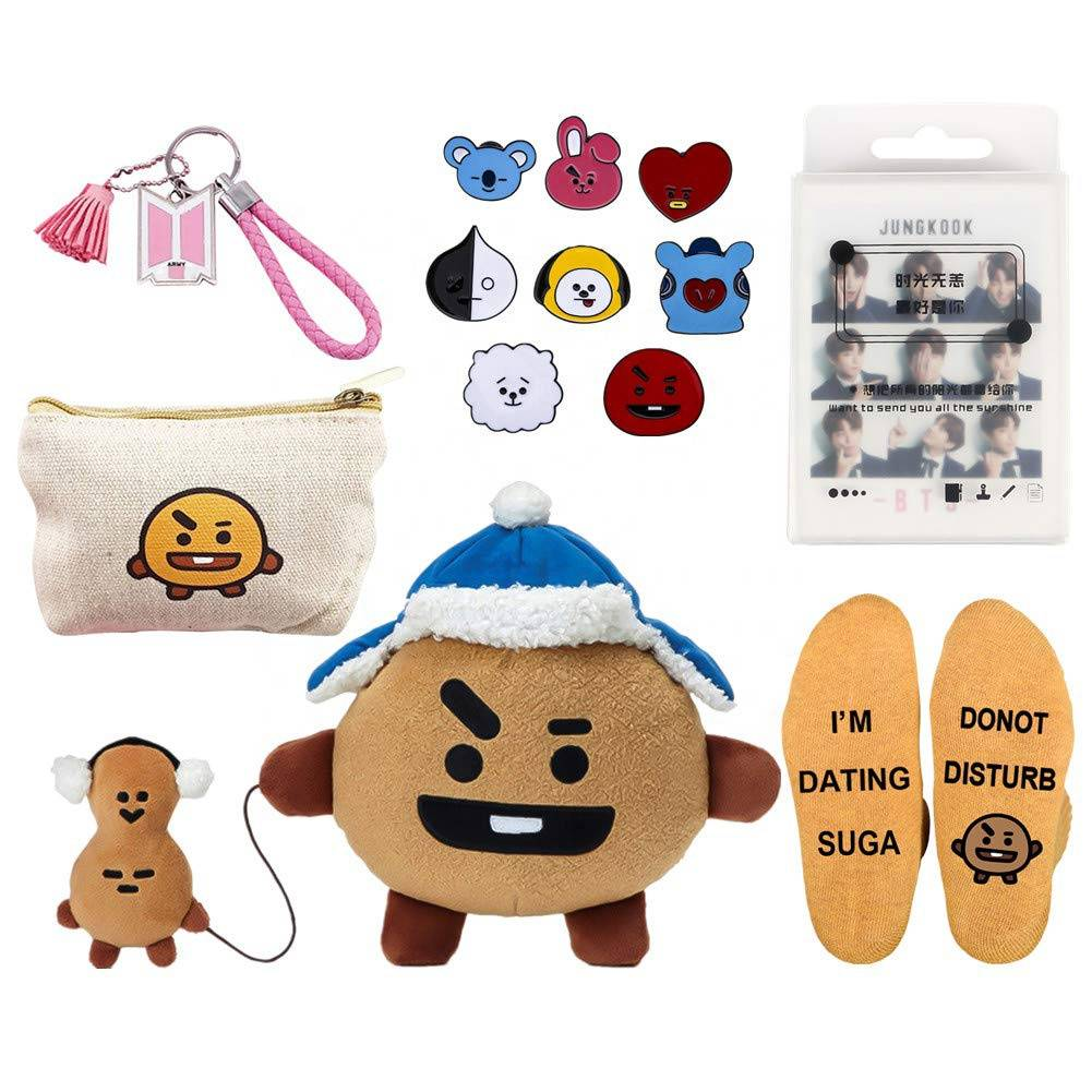 Promotion Baby Gift Set Boys Girls Postcard Keychain Socks Doll Set Cute Cartoon Christmas Merchandise Set