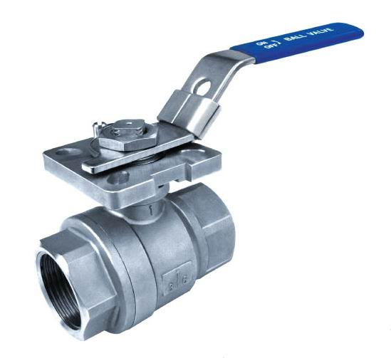 2PC Ball Valves,Full Bore,Threaded End,1000WOG,With Mounting Pad