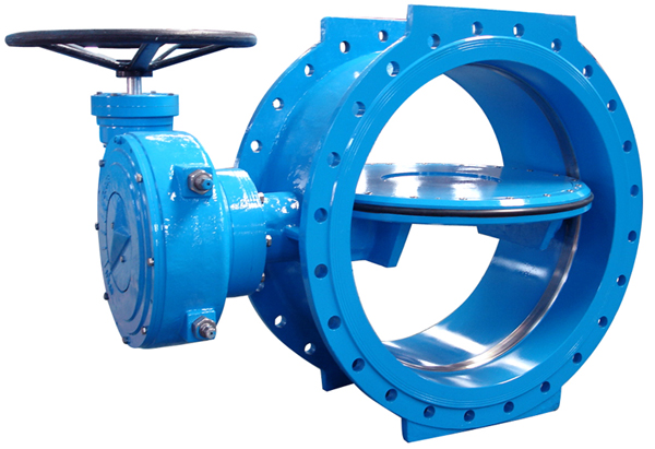 Double matimàticu Double Flanged farfalla valves