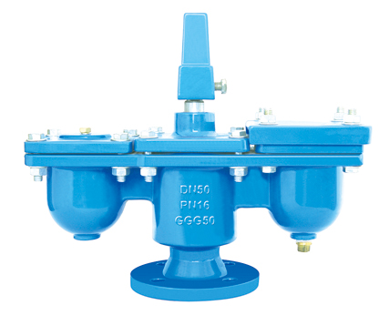 Double orifice Air falifu, Flanged End, Pẹlu jeyo