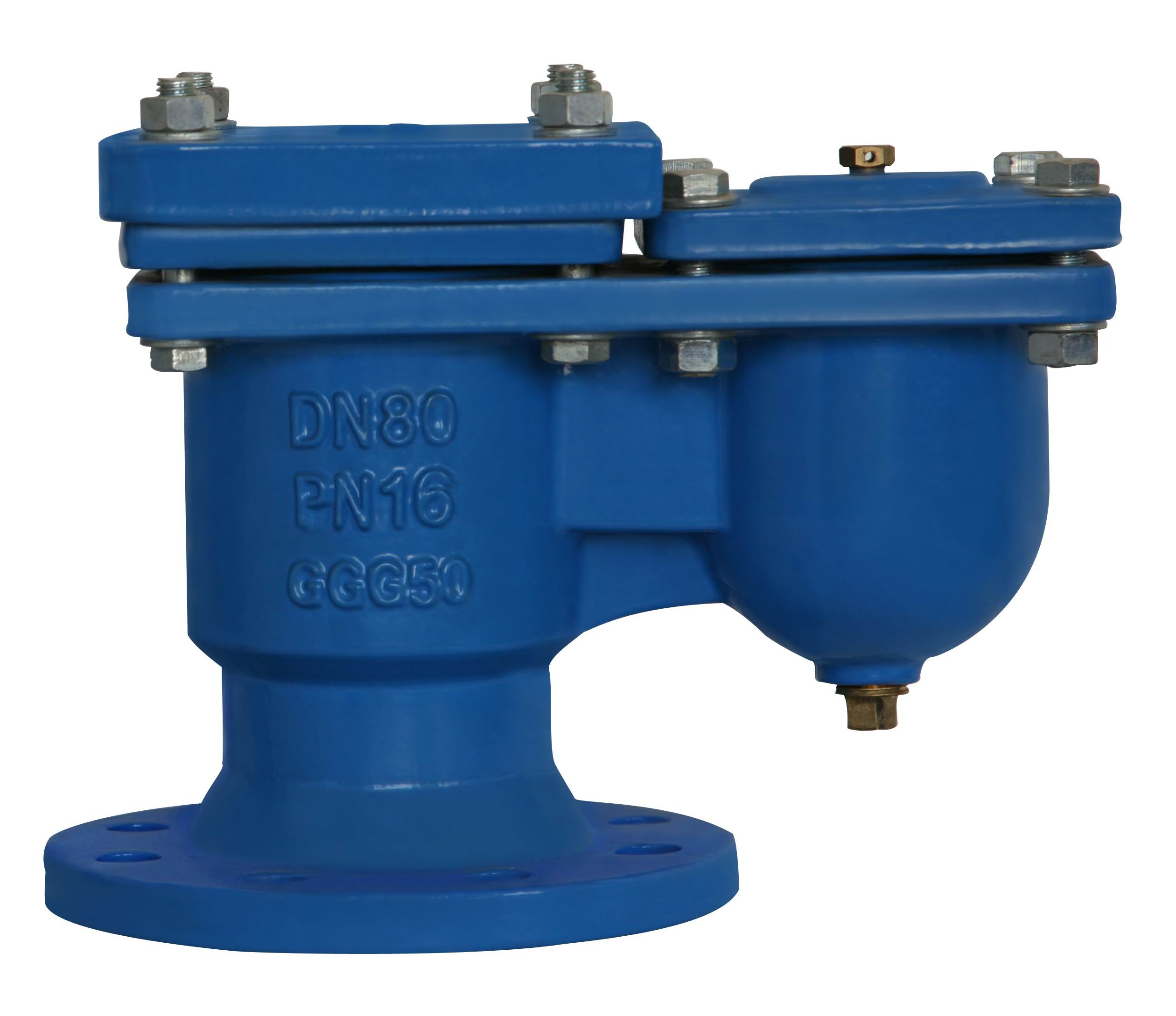 Double orifice otomatis Air Valves, flanged End