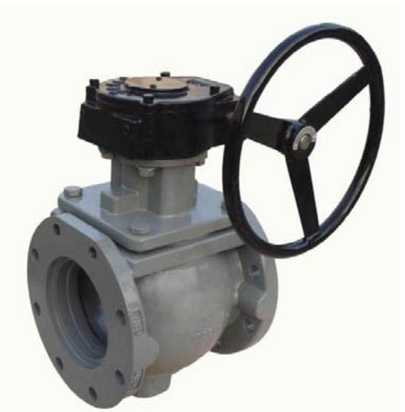 Eccentric Plug Valves with Gear Box