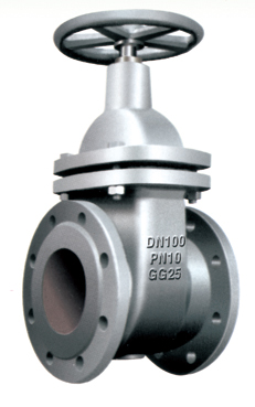 Flanged End Non-Rising Stem Gate Valves-DIN3352 F4 PN10,7DZ45T-10