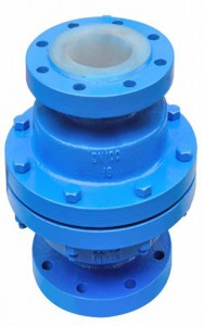 Lined Vertical Lift Check Valve