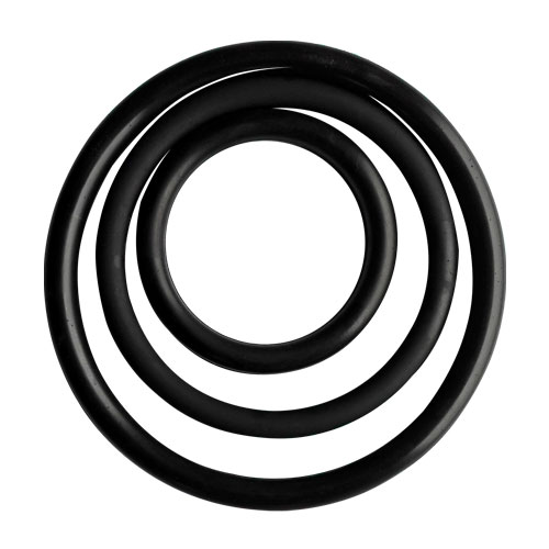 Rubber ring for socket ends