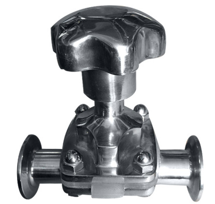 Diaphragm valve with handle