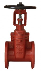 Flanged End OSY Resilient Seated Gate Valves-AWWA C515 UL FM