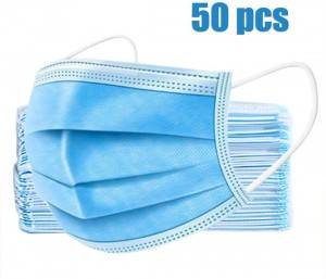 3-Layer Disposable Anti Dust Face Mask for Personal Health Protection(50PCS)