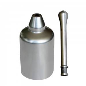 Graphite casting crucible and stopper