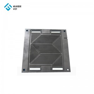 High pure graphite carbon sheet anode plate for electrolysis for fuel cell battery
