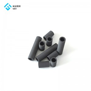 Hot size for graphite tube, round resin impregnated graphite tubes
